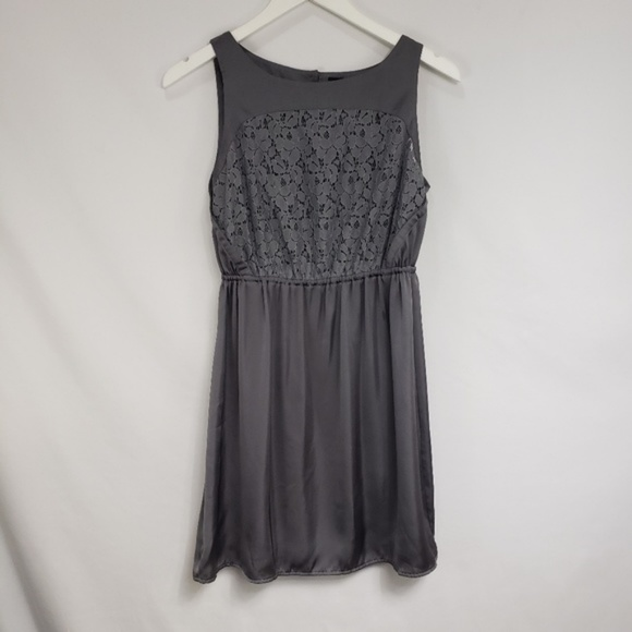 Mossimo Supply Co. Dresses & Skirts - Mossimo Silver Gray Eyelet Satin Cocktail Dress